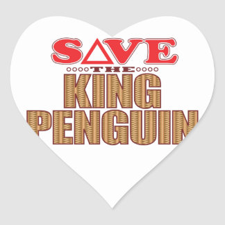 King Penguin Save Heart Sticker