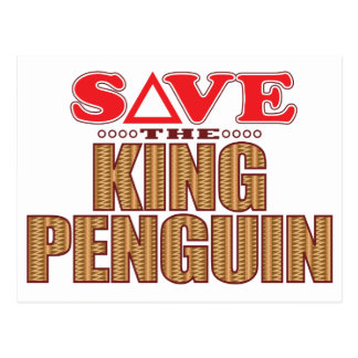 King Penguin Save Postcard