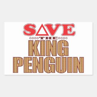 King Penguin Save Rectangular Sticker