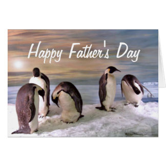 King penguins Happy Father's Day Card