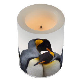 King Penguins in Love Flameless Candle