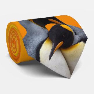 King Penguins in Love Tie (Yellow/Orange)