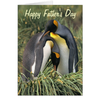 King penguins Lovers Father's Day Card