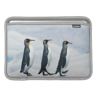King Penguins walking in single file MacBook Air Sleeve