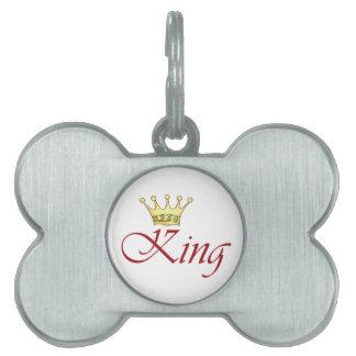 KING PET TAG