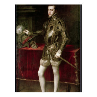King Philip II  1550 Postcard