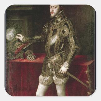 King Philip II  1550 Square Sticker