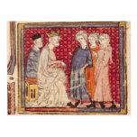 King Philippe I , Grandes Chroniques de France Postcard