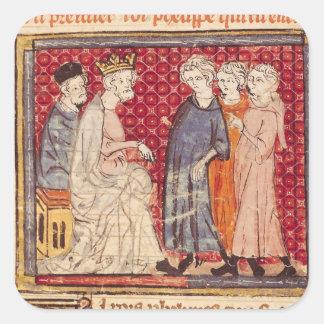 King Philippe I , Grandes Chroniques de France Square Sticker