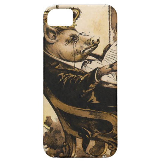 King Pig Reading His Newspaper iPhone SE/5/5s Case
