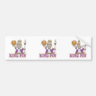 king pin bowling humor design car bumper sticker