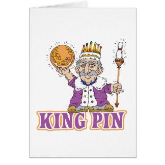 king pin bowling humor design card
