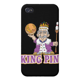 king pin bowling humor design iPhone 4/4S cases