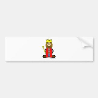King (plain) car bumper sticker