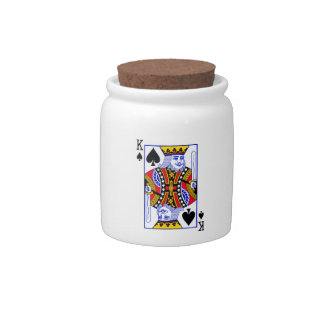 King Playing Card Candy Dish