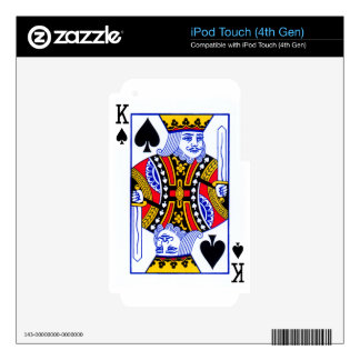 King Playing Card Skin For iPod Touch 4G