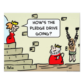 king pledge drive dungeon 4.25x5.5 paper invitation card