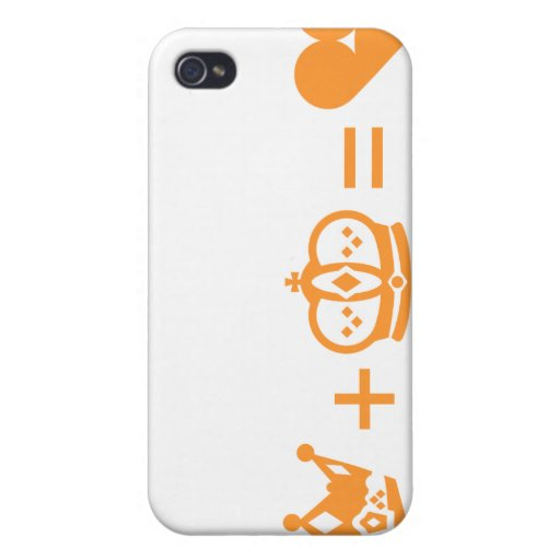 king plus queen equals love covers for iPhone 4