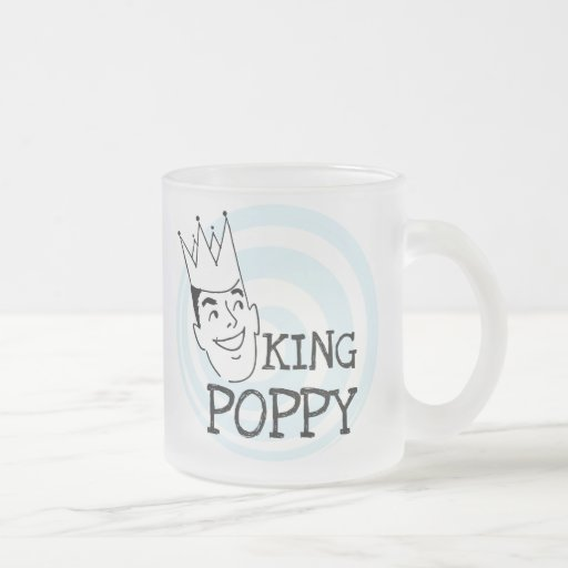 King Poppy T-shirts and Gifts 10 Oz Frosted Glass Coffee Mug