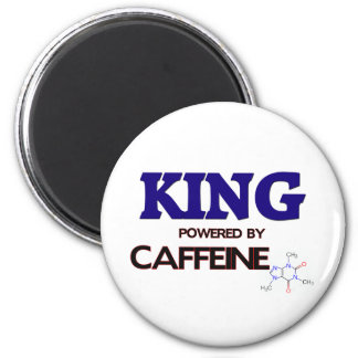 King Powered by caffeine 2 Inch Round Magnet
