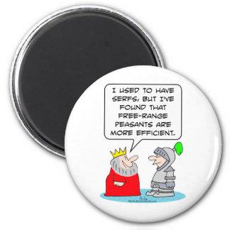 King prefers peasants to serfs. magnet