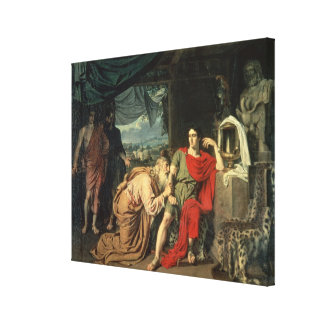 King Priam begging Achilles for return of Canvas Print