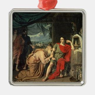 King Priam begging Achilles for return of Metal Ornament