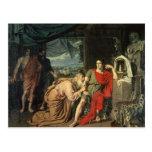 King Priam begging Achilles for return of Postcards