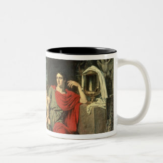 King Priam begging Achilles for return of Two-Tone Coffee Mug