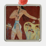 King-Priest or Prince with Lilies Christmas Ornament