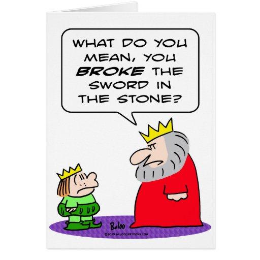 king prince broke sword in stone cards