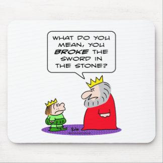 king prince broke sword in stone mouse pad