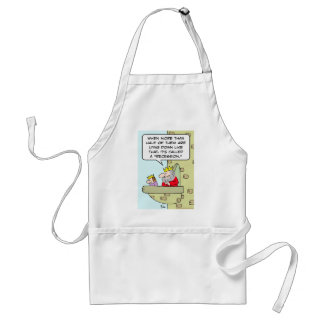king prince lying down recession adult apron