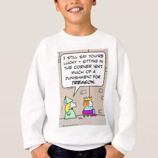 king prince princess sitting corner punishment tre sweatshirt