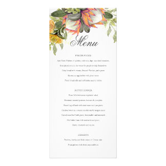 King Protea Bouquet Wedding Menu
