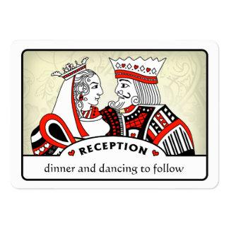 King & Queen - 3.5 x 2.5 Wedding Reception Cards