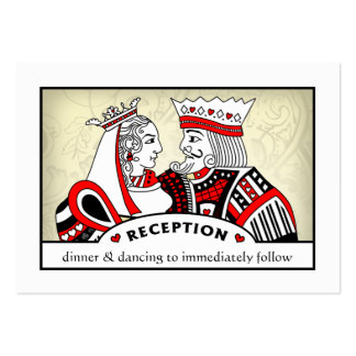 King & Queen - 3.5 x 2.5 Wedding Reception Cards Large Business Card