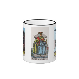 King, Queen, and Knight of Cups Tarot Coffee Mug