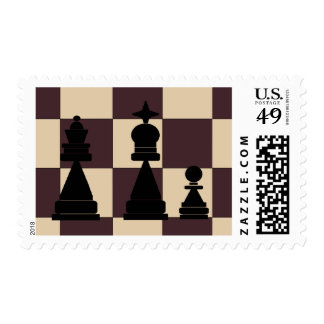 King, Queen and Pawn Chess Pieces Postage Stamps