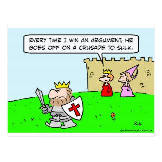 king queen argument crusade sulk postcard