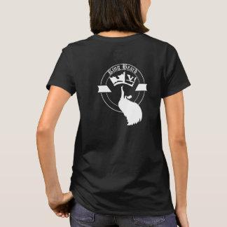King&Queen Beard on Black T-Shirt