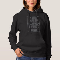 king, queen, bishop, horse, rook - chess game gift hoodie