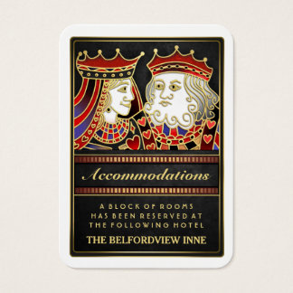 King & Queen Black Red Accommodations 2.5 x 3.5 Business Card