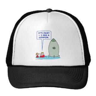 king queen bomb atomic coupon trucker hat