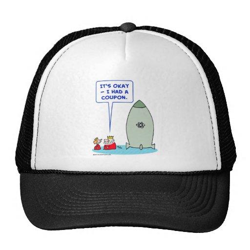 king queen bomb atomic coupon trucker hats