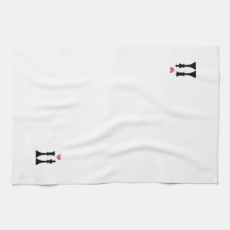 King & Queen Chess Love Kitchen Towels