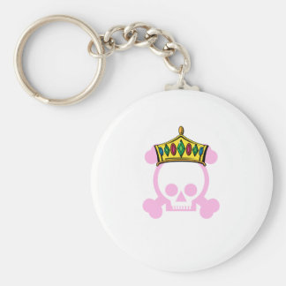 King/Queen Crown Basic Round Button Keychain