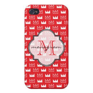 King Queen Diva Red Crown Cover For iPhone 4