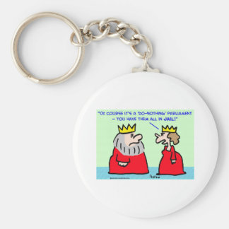 king queen do-nothing parliament keychain