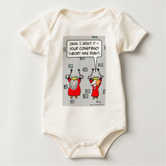 king queen dungeon conspriacy theory baby bodysuit